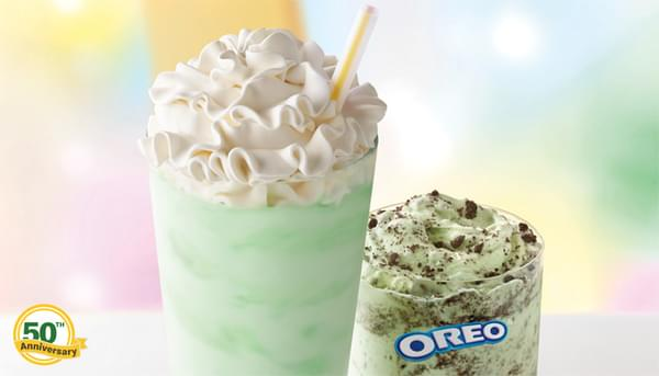 McDonald's Adds Oreo Shamrock McFlurry and Brings Back the Shamrock Shake