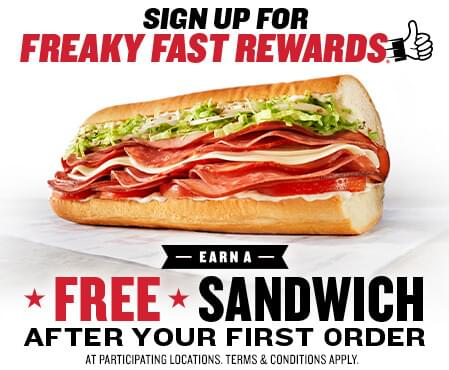 Get a Free Jimmy Johns Sandwich After First Rewards Program Order